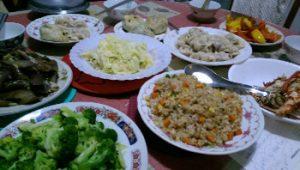 陳さんの家の晩御飯
